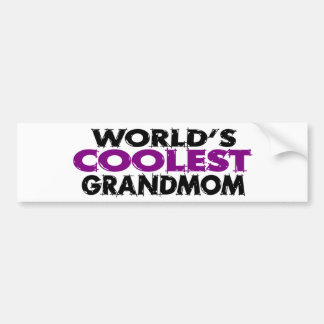 Worlds Coolest Grandmom Bumper Sticker