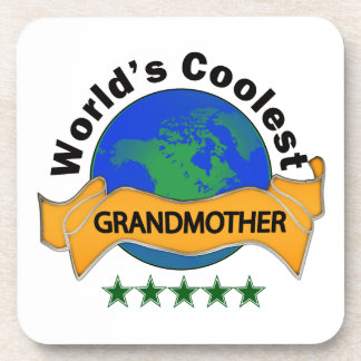 World's Coolest Grandmother Drink Coaster