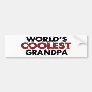 Worlds Coolest Grandpa Bumper Sticker