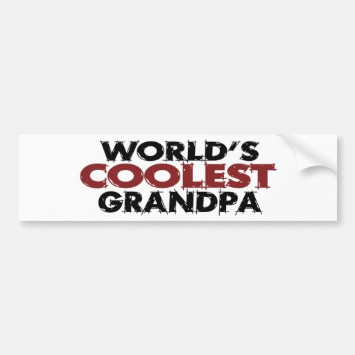 Worlds Coolest Grandpa Bumper Sticker