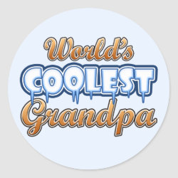 Round Sticker with World's Coolest Grandpa design