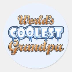 Round Sticker with World's Coolest Grandpa design