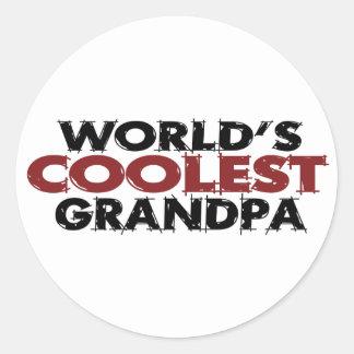 Worlds Coolest Grandpa Classic Round Sticker