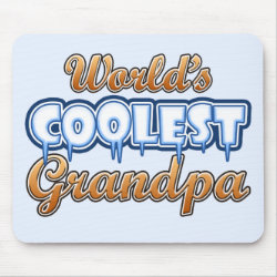 Mousepad with World's Coolest Grandpa design