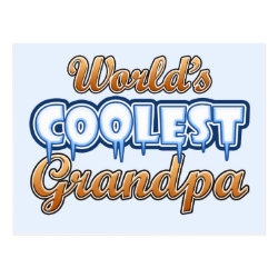 Postcard with World's Coolest Grandpa design