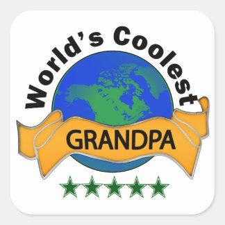 World's Coolest Grandpa Square Sticker
