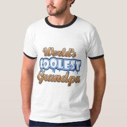 Men's Basic Ringer T-Shirt with World's Coolest Grandpa design