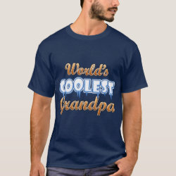 Men's Basic Dark T-Shirt with World's Coolest Grandpa design