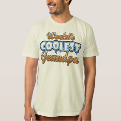 Men's American Apparel Organic T-Shirt with World's Coolest Grandpa design