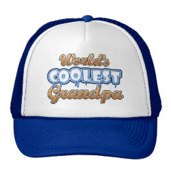 Trucker Hat with World's Coolest Grandpa design