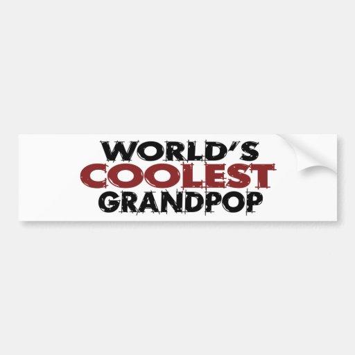Worlds Coolest Grandpop Bumper Sticker