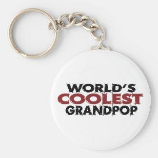 Worlds Coolest Grandpop Keychain