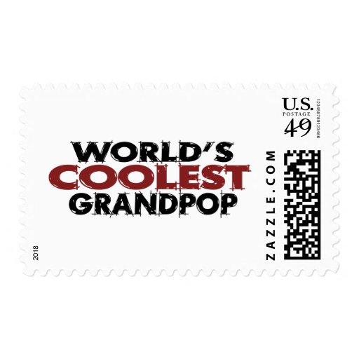 Worlds Coolest Grandpop Stamp