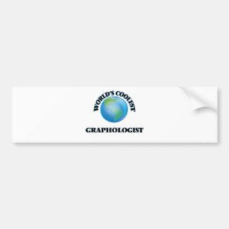 World's coolest Graphologist Car Bumper Sticker