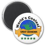World's Coolest Great Grandma 2 Inch Round Magnet