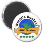 World's Coolest Great Grandma Refrigerator Magnets