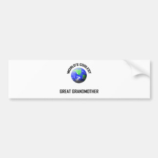World's Coolest Great Grandmother Bumper Sticker