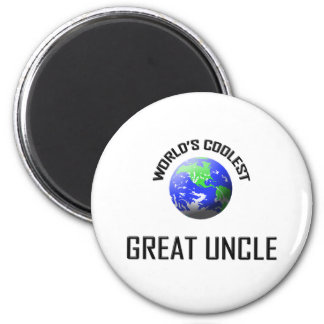 World's Coolest Great Uncle 2 Inch Round Magnet