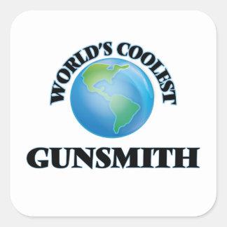 World's coolest Gunsmith Square Sticker