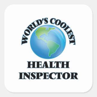 World's coolest Health Inspector Square Sticker