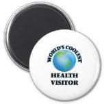 World's coolest Health Visitor 2 Inch Round Magnet