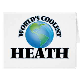 World's Coolest Heath Large Greeting Card