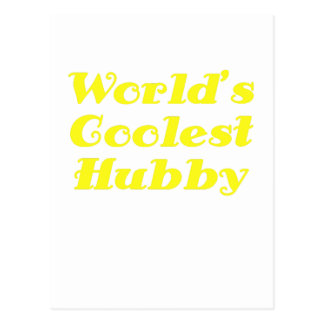 Worlds Coolest Hubby Postcard