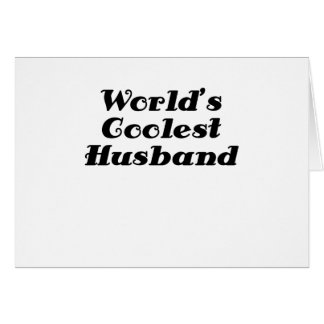Worlds Coolest Husband Card