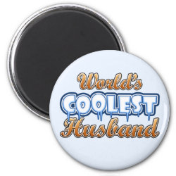 Round Magnet with World's Coolest Husband design