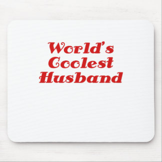 Worlds Coolest Husband Mouse Pad