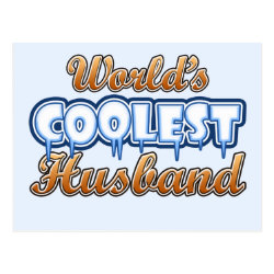 Postcard with World's Coolest Husband design