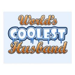 Postcard with World's Coolest Husband design