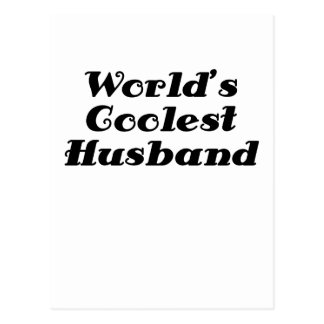 Worlds Coolest Husband Postcard