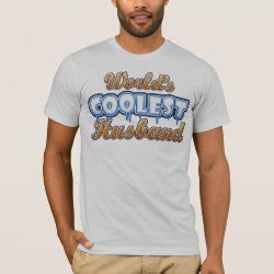 Men's Basic American Apparel T-Shirt with World's Coolest Husband design