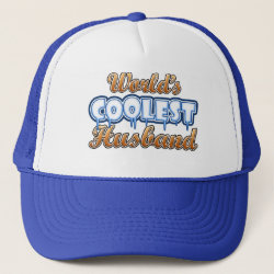 Trucker Hat with World's Coolest Husband design