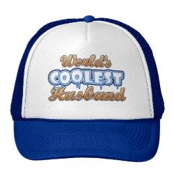 Trucker Hat with World's Coolest Husband design