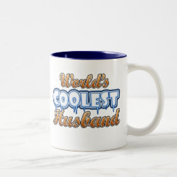 Two-Tone Mug with World's Coolest Husband design