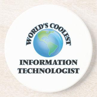 World's coolest Information Technologist Beverage Coaster