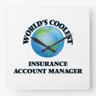 World's coolest Insurance Account Manager Square Wallclock