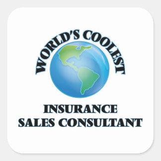 World's coolest Insurance Sales Consultant Square Sticker