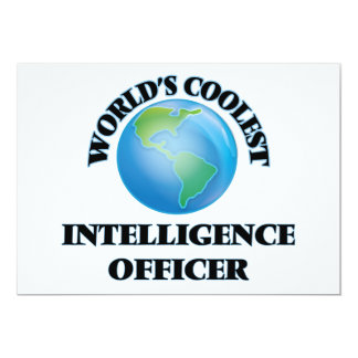 World's coolest Intelligence Officer 5x7 Paper Invitation Card