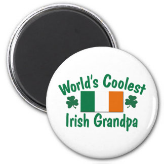 World's Coolest Irish Grandpa 2 Inch Round Magnet