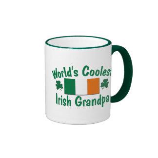 World's Coolest Irish Grandpa Ringer Coffee Mug