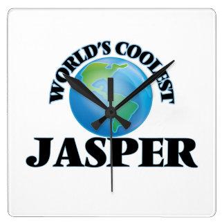 World's Coolest Jasper Square Wallclock