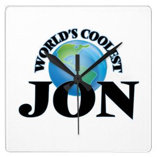 World's Coolest Jon Square Wallclock