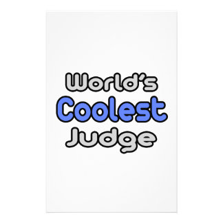 World's Coolest Judge Personalized Stationery