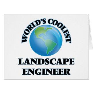 World's coolest Landscape Engineer Greeting Card