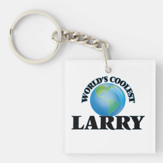 World's Coolest Larry Square Acrylic Keychains