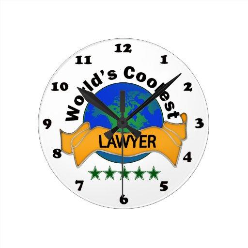 World's Coolest Lawyer Round Clocks