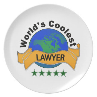 World's Coolest Lawyer Plate